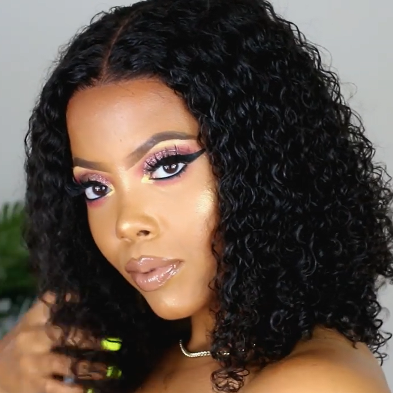 Gorgeous Curly 360 Lace Frontal 100 % Natural Wig