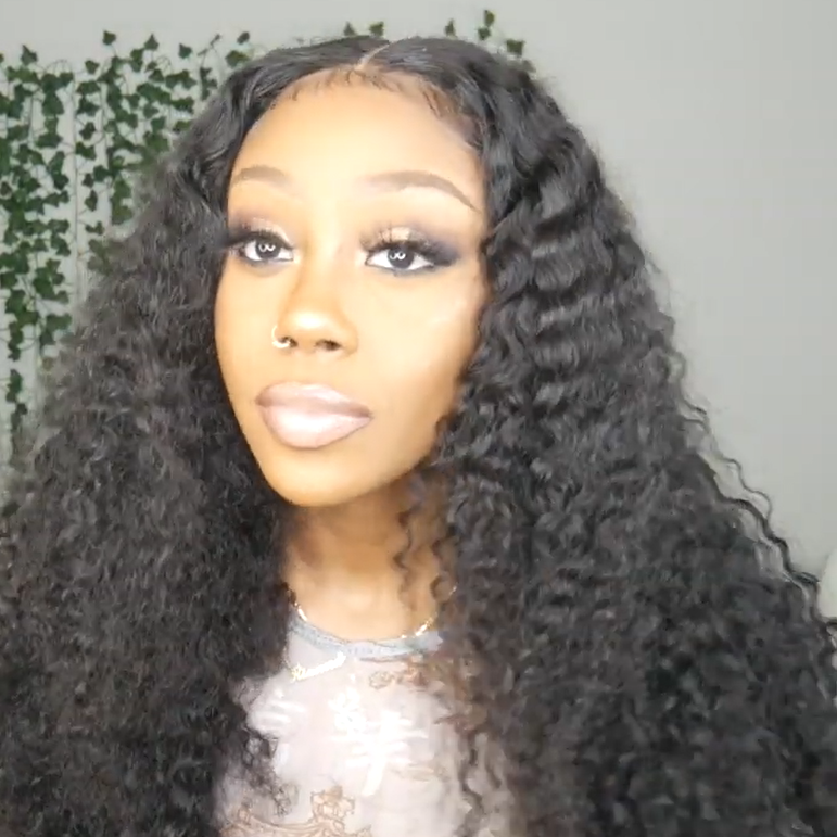 ¡¾Popular Series¡¿Curly 360 Lace Frontal 100 % Natural Wig