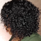 Glueless Human Hair Short Bob Curly Lace Front Wig