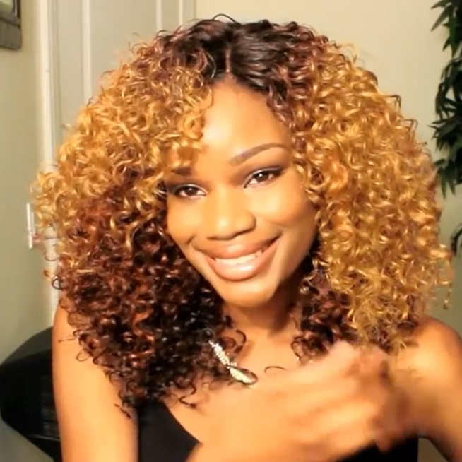 Glueless Human Hair Curly Lace Front Wig