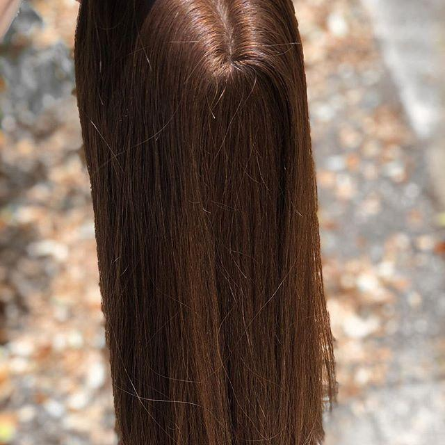 Our most popular Natural soft medium/long straight hairtopper