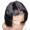 Brazilian Short Human Hair Wigs Natural Wave Lace Front Wigs Pre Plucked
