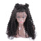 Brazilian water wave wig with baby hair