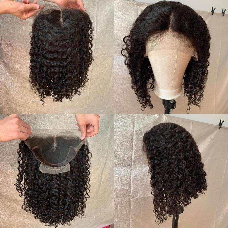 2020 New Year Hot Sale  Limited Time Special--Glueless Full Lace Curly Lace Front  short Wig