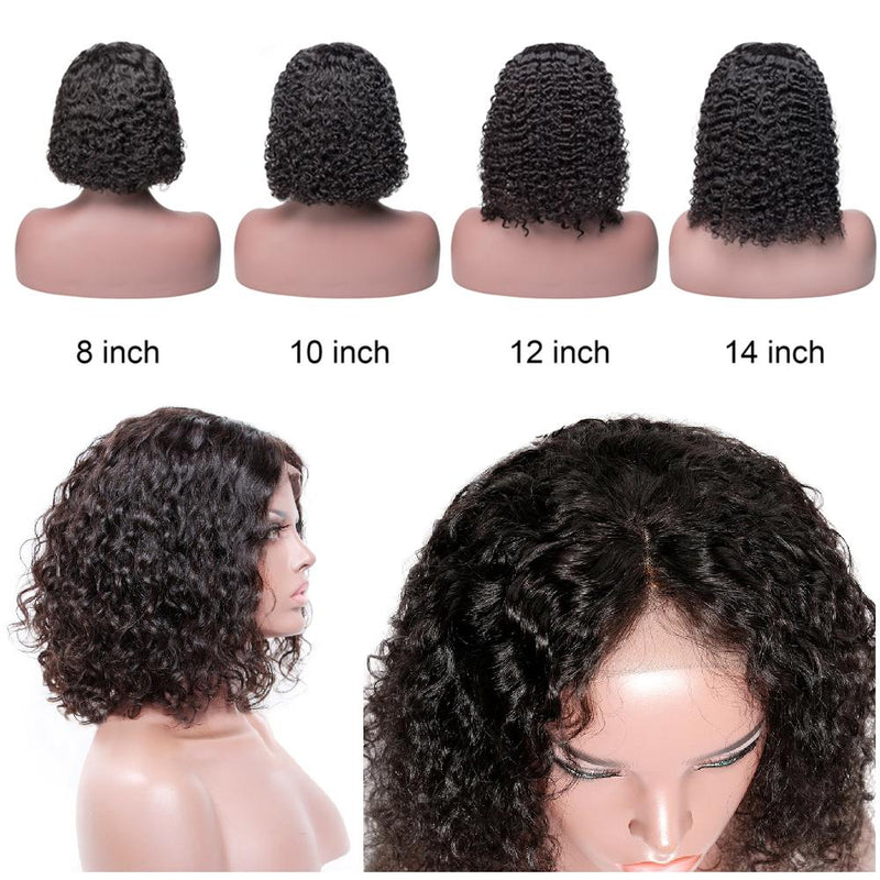 13X4 Lace Front Wig Short Bob Wig Deep Curly