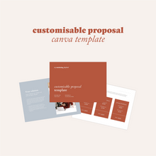 Load image into Gallery viewer, Customisable Proposal Canva Template