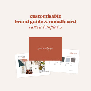 Customisable Brand Guide & Moodboard