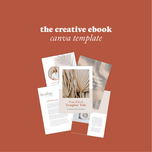 The Creative Ebook Canva Template