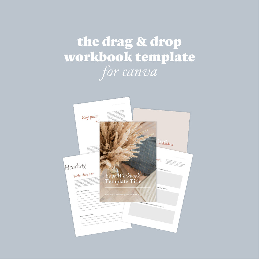 The Drag and Drop Workbook Template for Business