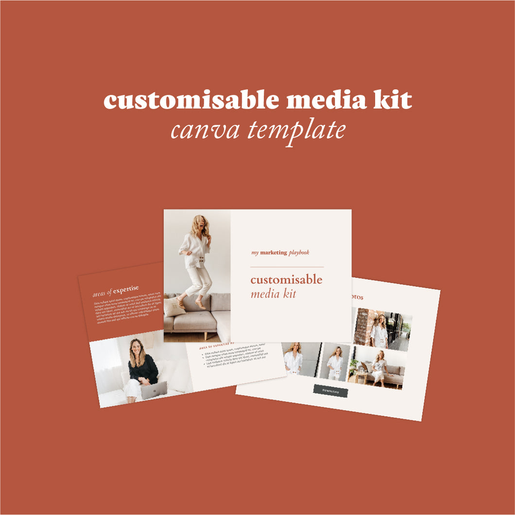 Customisable Media Kit Canva Template