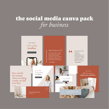Load image into Gallery viewer, The Social Media Canva Pack for Business