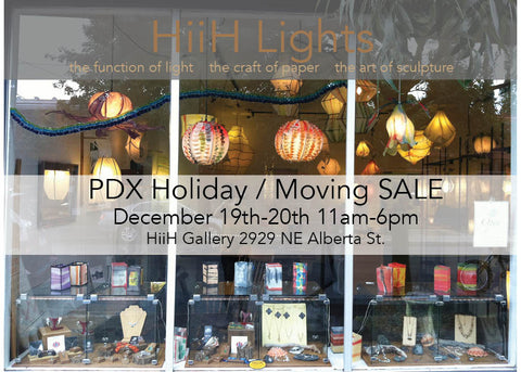 HiiH Lights Portland Holiday/Moving Sale on Alberta Street