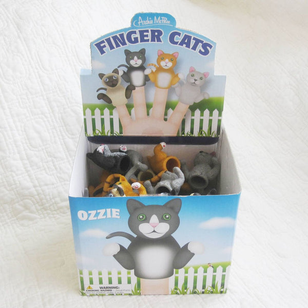 Finger Cats Finger Puppets, Set of Four, Ages 5 - Adult