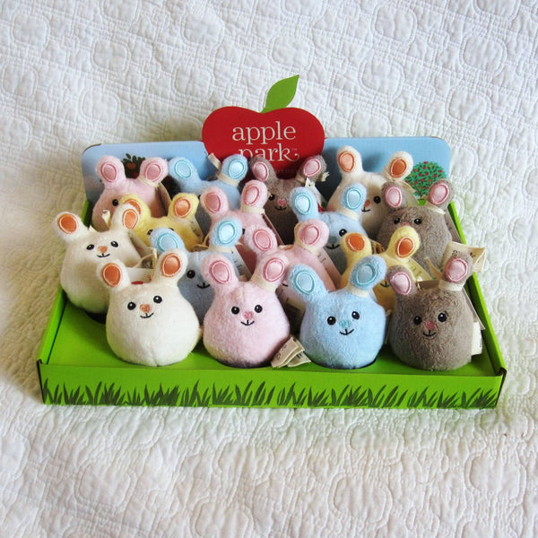 Mini Bunny Organic Cotton Rattles by Apple Park, From Birth