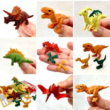 "Dinosaur Erasers Set, Finely Detailed Japanese ""Puzzles"", Ages 5+"