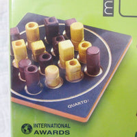 """Quarto"" Mini, Portable Wooden Strategy Board Game, Ages 8+"