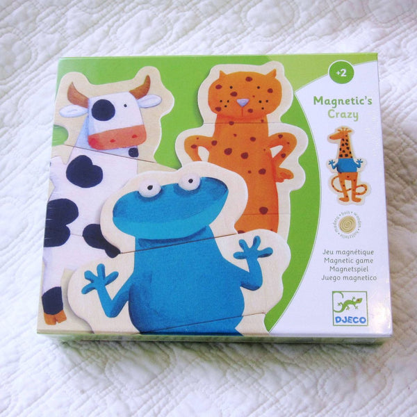 Crazy Animals Mix and Match Wooden Magnets, Ages 3+