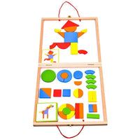 Geoform Wooden Magnetic Portable Play Set, Ages 4+