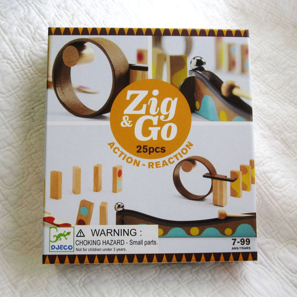 """Zig and Go"" Rube Goldberg Style Chain Reaction Wooden Building Set, Ages 7+"