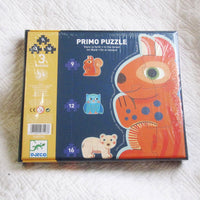 In The Forest Progressive Jig Saw Puzzles by Djeco, Premium French Brand,  Ages 3 - 5