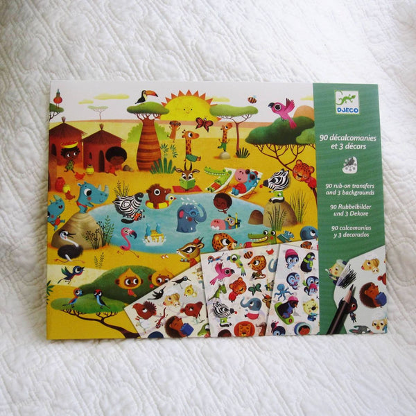 Around the World Transfers Craft Kit by Djeco, Ages 4+