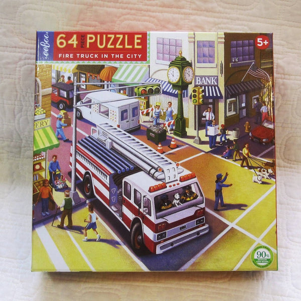 Fire Truck in the City 64 Piece Puzzle, Ages 5+
