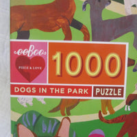 Dogs in the Park 1000 Piece Puzzle, Ages 8 - Adult