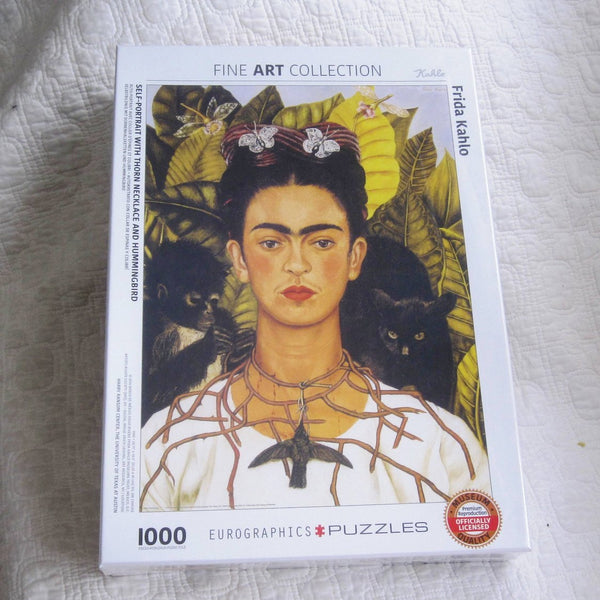 "Frida Kahlo ""Self Portrait With Hummingbird"" Jigsaw Puzzle, 1,000 Piece, Ages 12 - Adult"