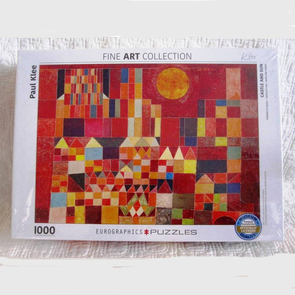"""Castle and Sun"" by Klee Jigsaw Puzzle, 1,000 Piece, Ages 8 - Adult"