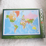 Modern Map of the World Jigsaw Puzzle, 1,000 Piece, Ages 8 - Adult