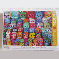 Traditional Mexican Skulls Jigsaw Puzzle, 1,000 Piece, Art Photography, Ages 8 - Adult