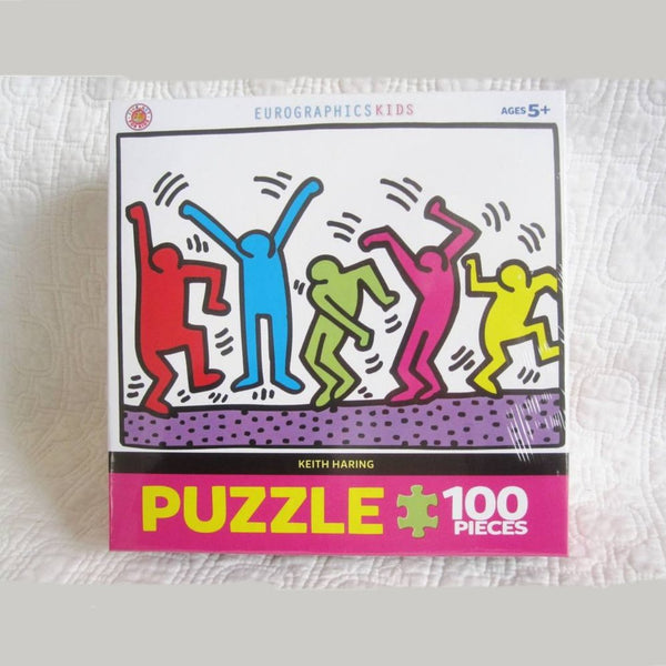 "Keith Haring ""Dancing"", 100 Piece Jigsaw Puzzle, Ages 5+"