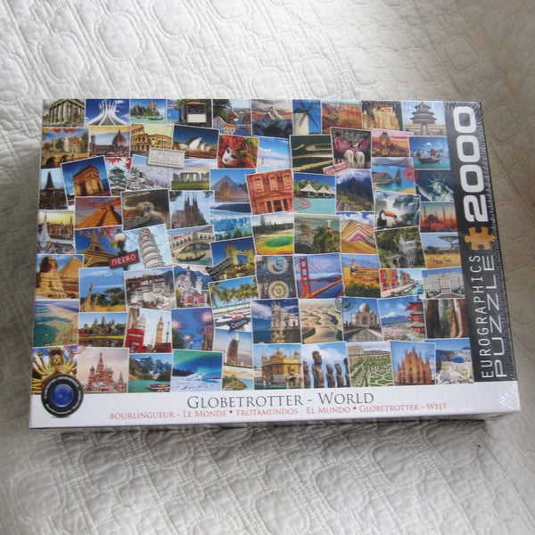 Globetrotter Scenic Crossword Puzzle, HUGE 2,000 Piece Puzzle, Ages 8 - Adult