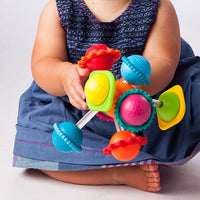 Wimzle Rattle and Teether Baby Toy Full of Color and Motion, Ages 6 mo.+