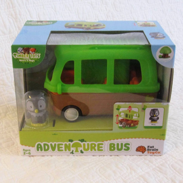 Timber Tots Adventure Bus, Roll Along Fun, Ages 2+