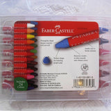 Faber-Castell Beeswax Crayons in a Durable Storage Case, 24 Bright Colors, Ages 3+