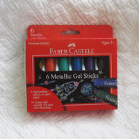 Faber-Castell Metallic Gel Sticks, 6 ct., For Ages 5+