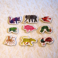 Eric Carle Wooden Magnetic Shapes, 35 Colorful Pieces, Ages 3+
