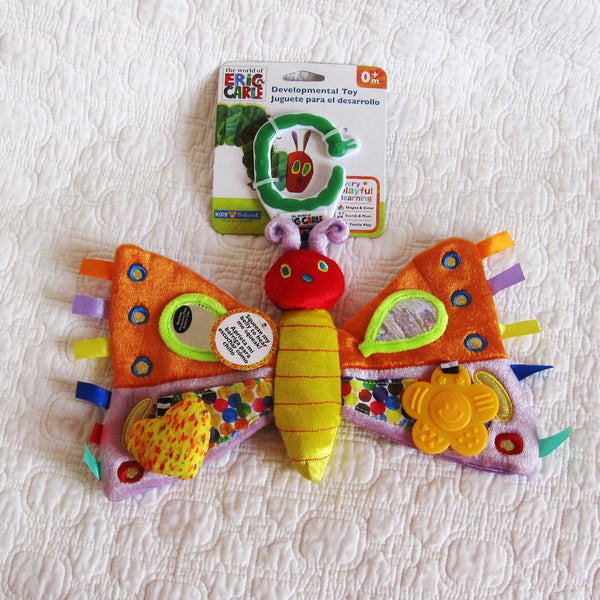 Developmental Eric Carle Butterfly Stroller Toy, For Babies From Birth -18 mo., Pretty and Fun