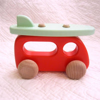 Wooden Camper Van With Surfboard by BAJO for Ages 18 mo+