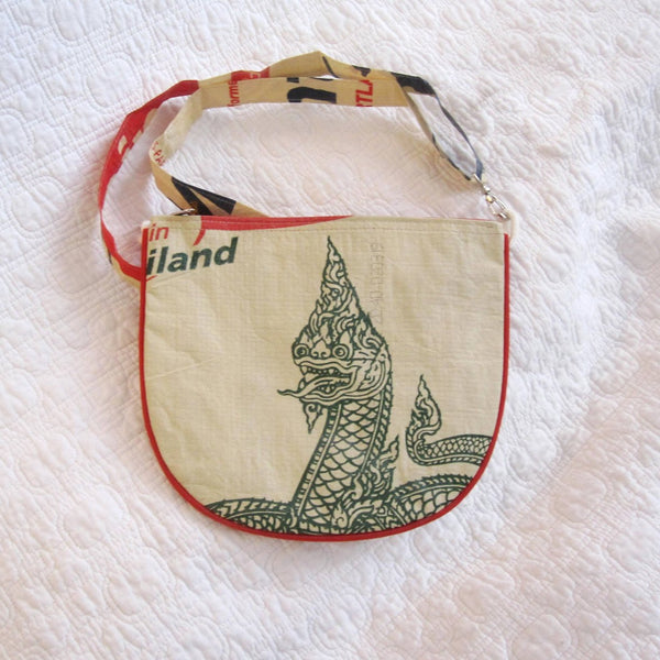 Serpent Head Daybag, Made of Recycled Cement Bag Graphics, Fair Trade and Fun!