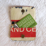 """Diamond Elephant"" Cardholder Wallet, Made From Recycled Cement Bags, Fair Trade"