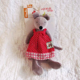 Nina Velvet Mouse, Adorable Toy by French Brand Moulin Roty, Ages 18 mo+