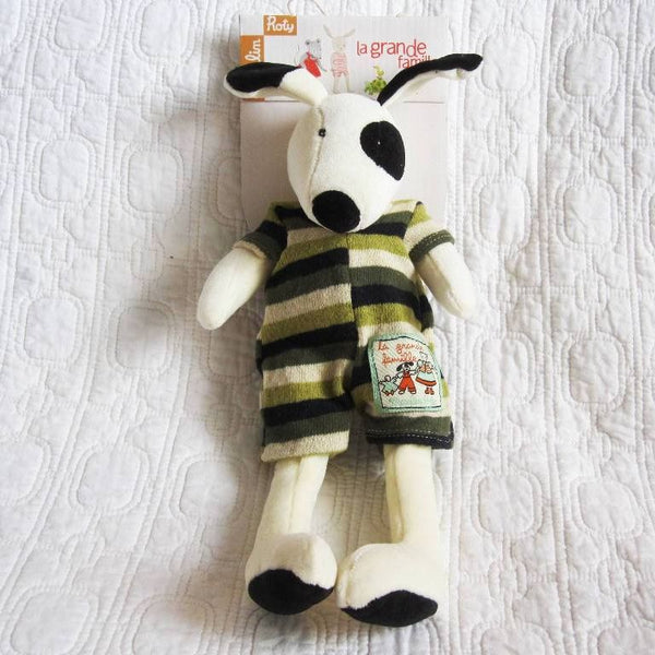 Little Dog Julius, Sweet Velvet Toy by French Brand Moulin Roty, Ages 18 mo+