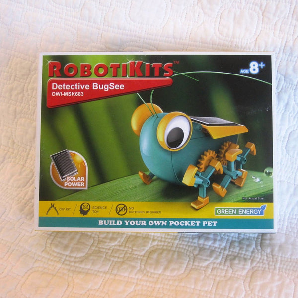 "OWI Robotics ""Detective BugSee"" Mini Solar Robot Kit, No Batteries, Ages 8+"