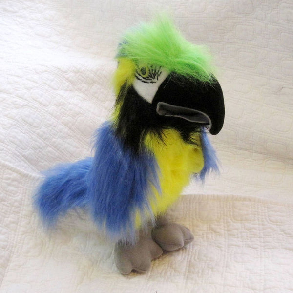 Blue and Gold Macaw Hand Puppet by The Puppet Company, Ages 3+