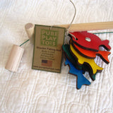 Wooden Fishing Rod with 5 Fish, by Pure Play, Ages 3+, US Made