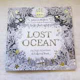 Lost Ocean: An Inky Adventure and Coloring Book for Adults by J. Basford