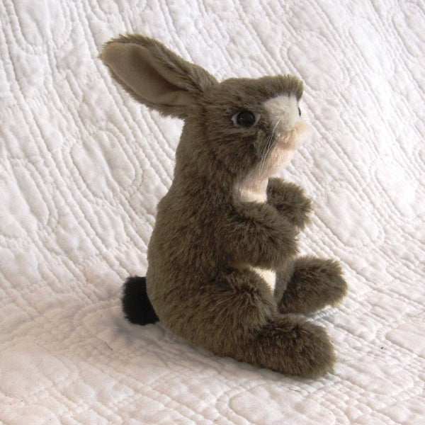 Jack Rabbit MIni Finger Puppet by Folkmanis, Fuzzy and Fun, Ages 3+