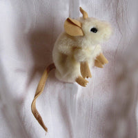 White Mouse Mini Finger Puppet by Folkmanis, Adorable, Ages 3+
